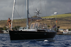 Sailed to Hawaii summer 2014. Moored off Lahaina, Maui.