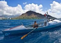 Roz Savage arrives Honolulu Hawaii
