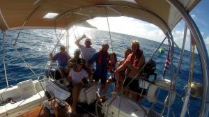 Galen Diana Hawaii crew with Pacific Warriors safe in Honolulu